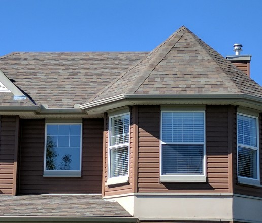 Chestermere asphalt shingle roof replacement completed project