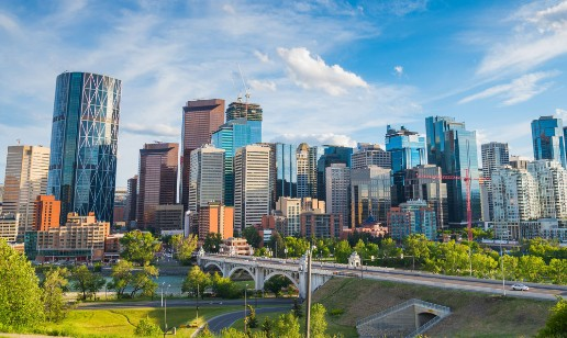 Calgary Downtown in the Summer Time