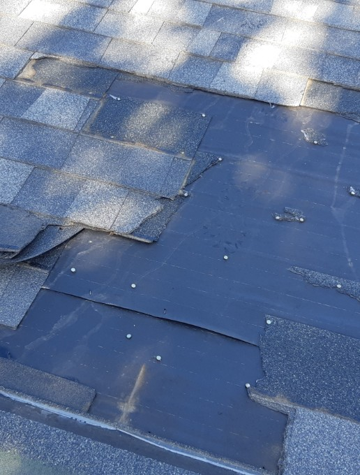 calgary home with damaged roof