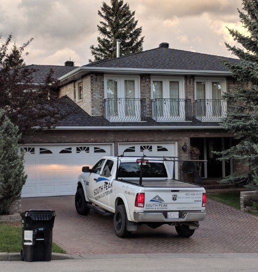 South Peak Truck parked in-front of a medicine hat residential home