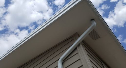 Calgary home with new soffit installation