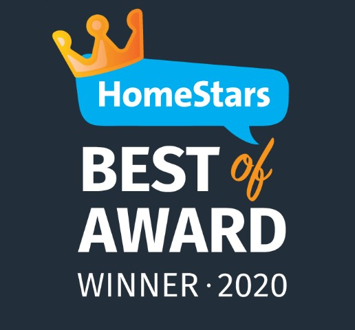 Homestars Best of Award Winner for 2020