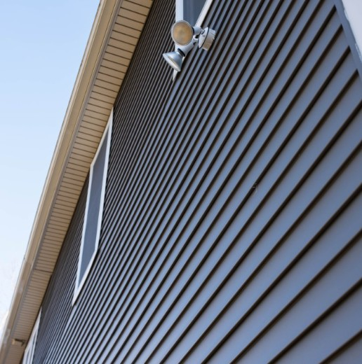 Vinyl siding on Calgary residential home